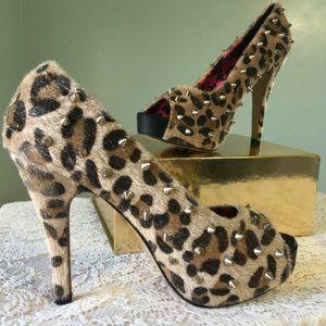 Leopard Animal Halloween Studded Heels Costume
